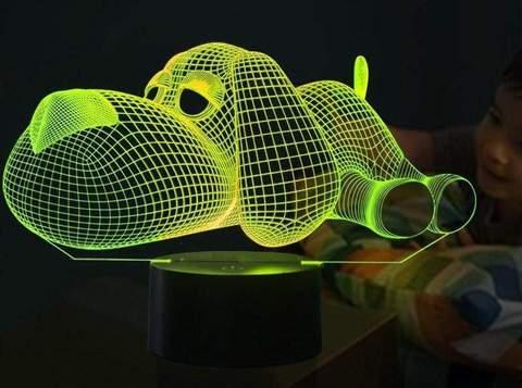 3D LED Illusion Dog Lamp